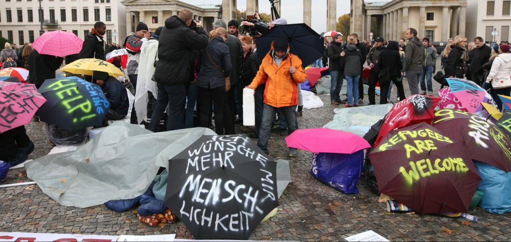 Hungerstreik der Flüchtlinge. Solidarität zeigen.