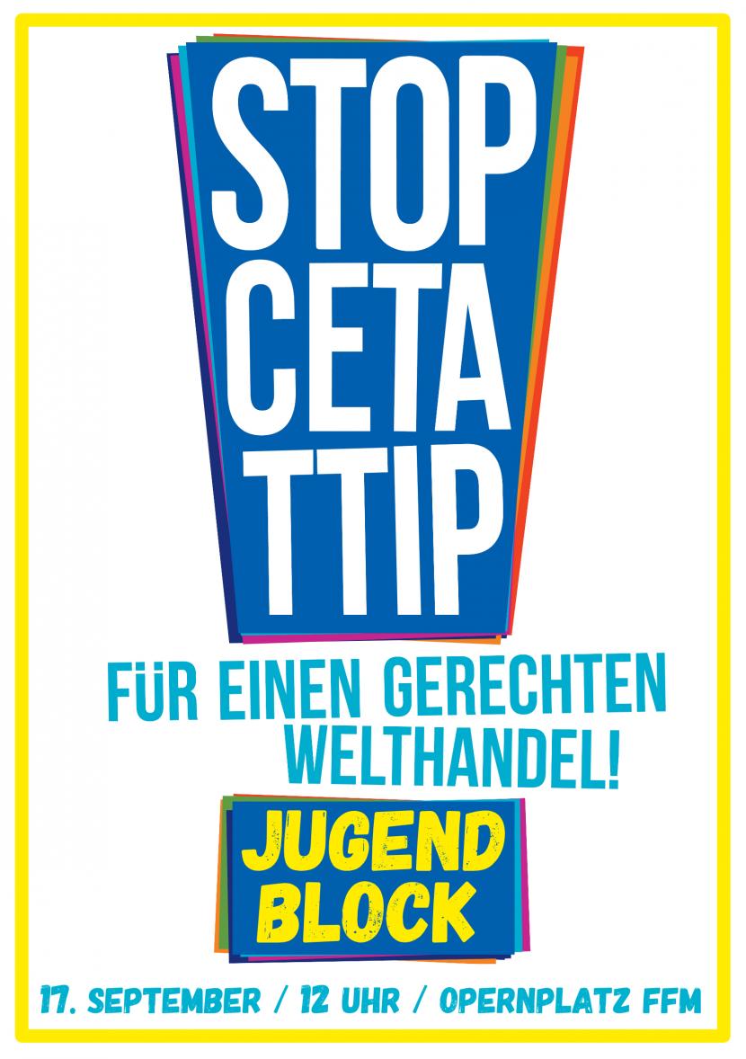 STOP CETA/TTIP Jugendblock Front