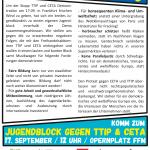 STOP CETA/TTIP Jugendblock Back
