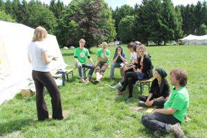 Diskutieren beim Workshop