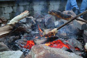 Lagerfeuer mit Stockbrot