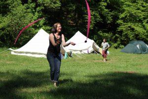 Mechthild jongliert
