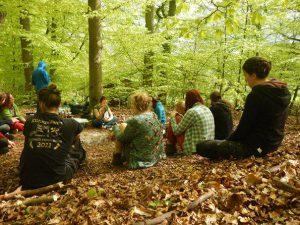 entspannte Runde im Wald, Frühling